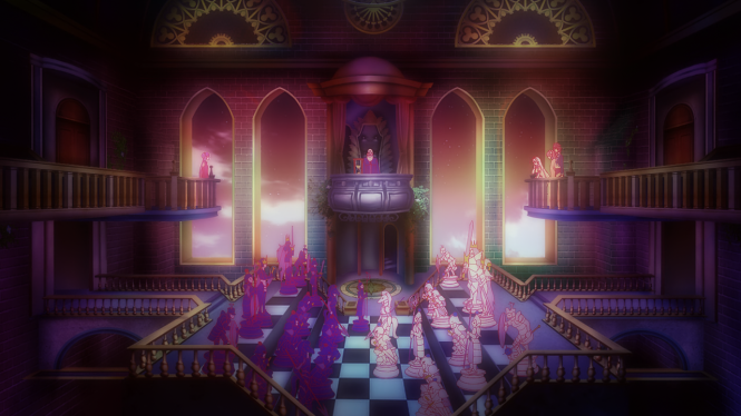 Even by Episode 3, the creativeness of the show really shines through with this game of chess.