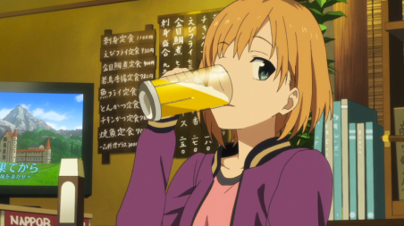 shirobako-episode-8-aoi-drinking